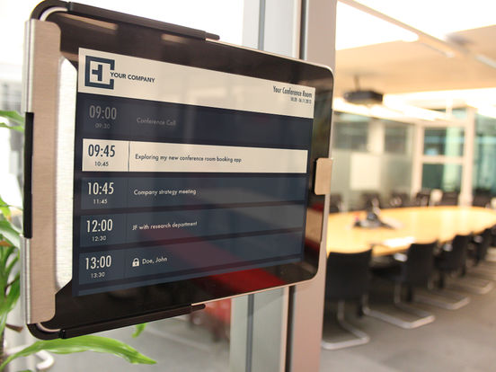 Meeting Room Booking System Tablet